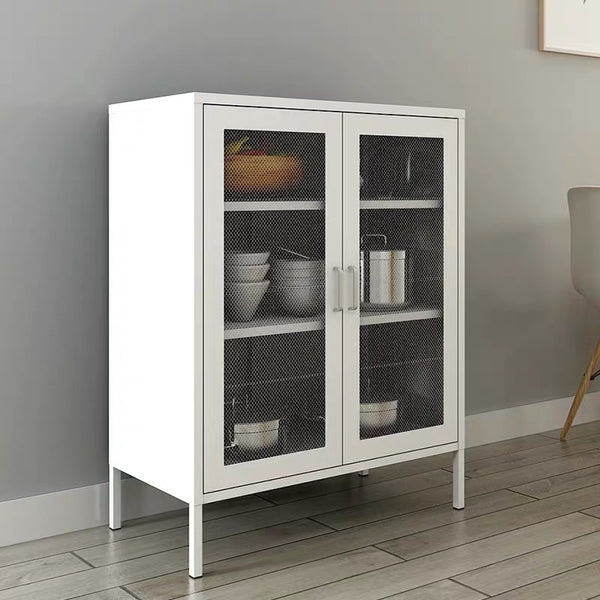 Audrey Metal Grid 2 Door Cabinet