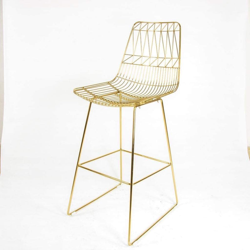Arlo Plated Bar Stool