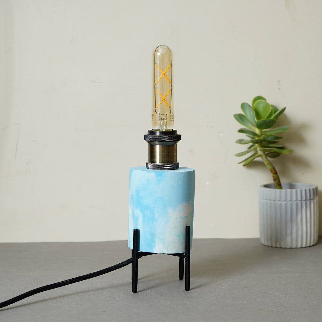 Marbled Lamp-White & Blue