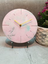 "Load image into Gallery viewer, Marbled 9""  Clock - Pink Premium"