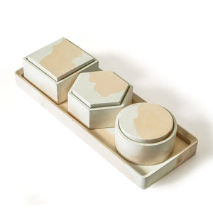 Multipurpose platter/tray with boxes