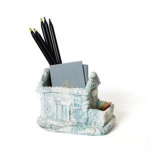 Concrete home desk organiser/planter