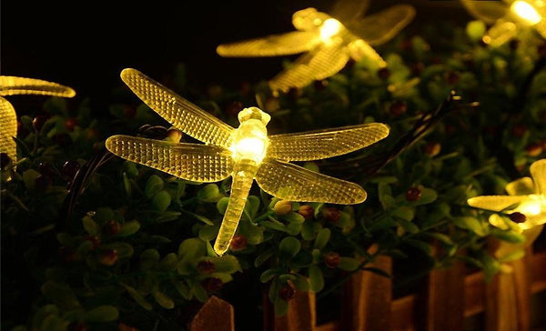 Solar-Powered LED Firefly String Lights