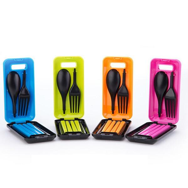 1 Set Portable Travel Kids Adult Cutlery Set