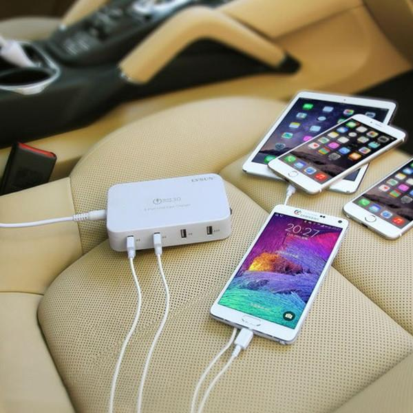 4 in 1 Car / Home USB Fast Charger