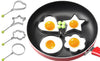 4-Pack Stainless Steel Fun Shaping Mould For Omlet, Fried Eggs, Pancakes