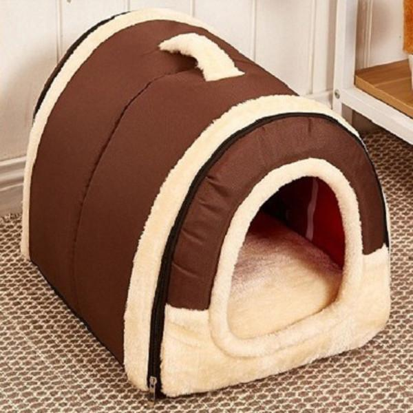 Multi functional Dog House Nest With Mat Foldable Pet Dog Bed
