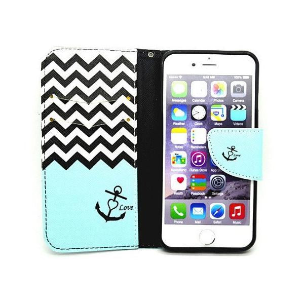 Anchor Card Slots Leather Case for iPhone 6