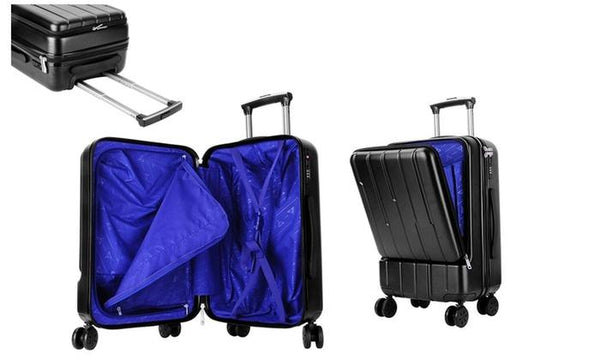 Carry On Suitcase With Weighing Scale, External Laptop Flap, and a TSA Lock