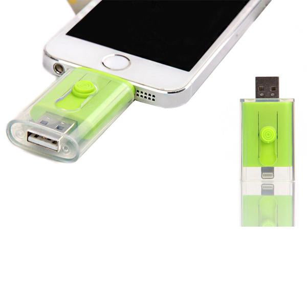 Dual USB Flash Drive for iPhone / iPad / iPod