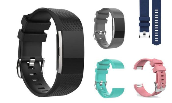 Fitbit Charge 2 Silicone Replacement Band (2-Pack)