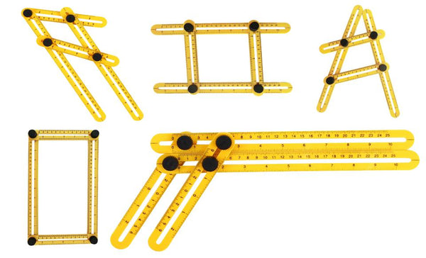 Multi Angle Ruler Template Tool - Stainless Steel or Plastic variants
