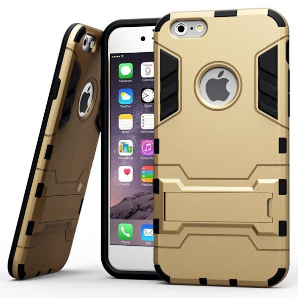 Rubber Cover Case with Stand for iPhone 6/6s and 6 Plus/6s Plus