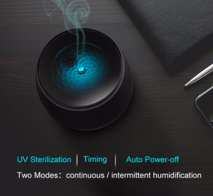 USB Ultrasonic LED Volcano Humidifier Essential Oil Aroma Diffuser