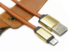 Leather Keychain Charging Cable For MicroUSB & Type C Smartphones