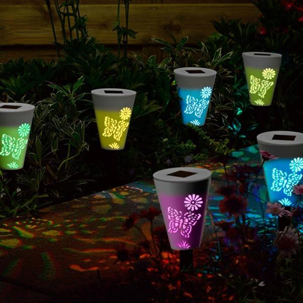 Solar Garden Landscape Light with Colorful Shadow