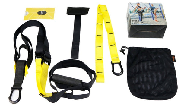 Full Body Fitness & Strength Suspension Straps Resistance Trainer Kit (4/ 6 Piece)