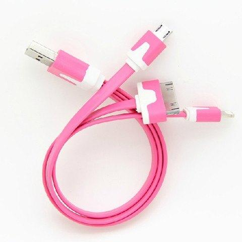 Accessories - 3 In 1 USB Data Charger Noodle Cable