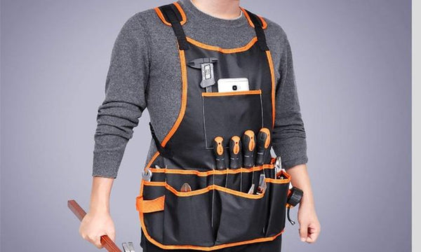 Fully Adjustable Waterproof Apron With 16 Tool Pockets