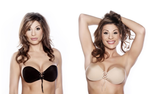 Freshlook Push-Up Silicone Adhesive Lace-Up Bra