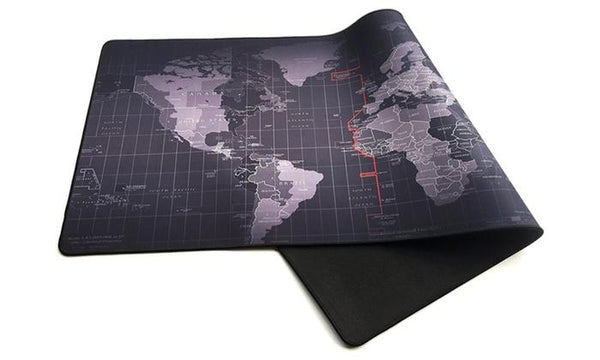 Retro World Map Full Desk Coverage Gaming And Office Mouse Pad