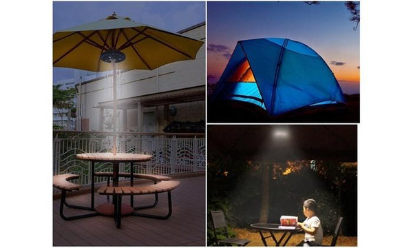 Wireless Patio Umbrella Pole LED Light With 3 Level Dimming
