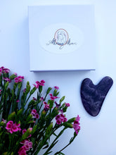 Load image into Gallery viewer, Amethyst Heart shaped Gua Sha Tool. 1 in Box