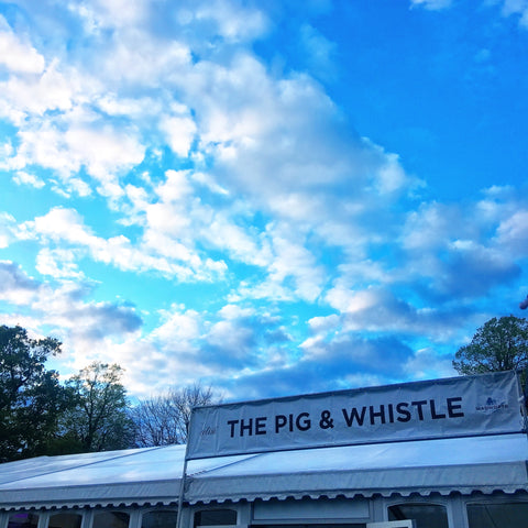 Pig and Whistle beer tent Badminton Horse Trials