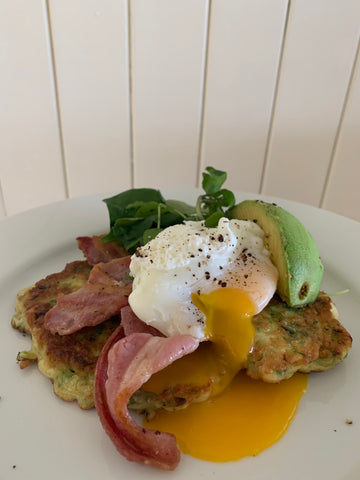 eggs and fritters