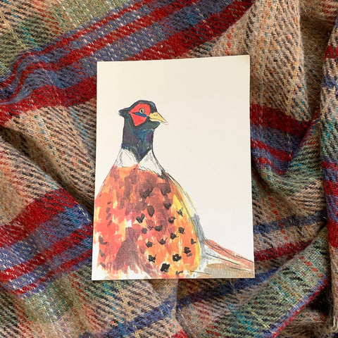 Mr Pheasant A5 Watercolour Print