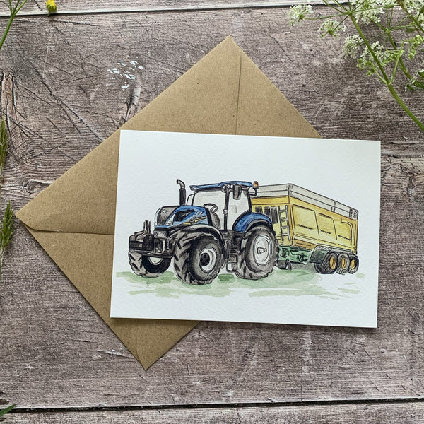 New Holland Tractor Card