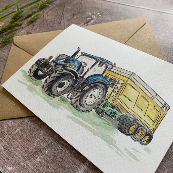 The Blue Tractor Card