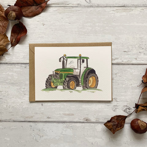 The Green Tractor Card