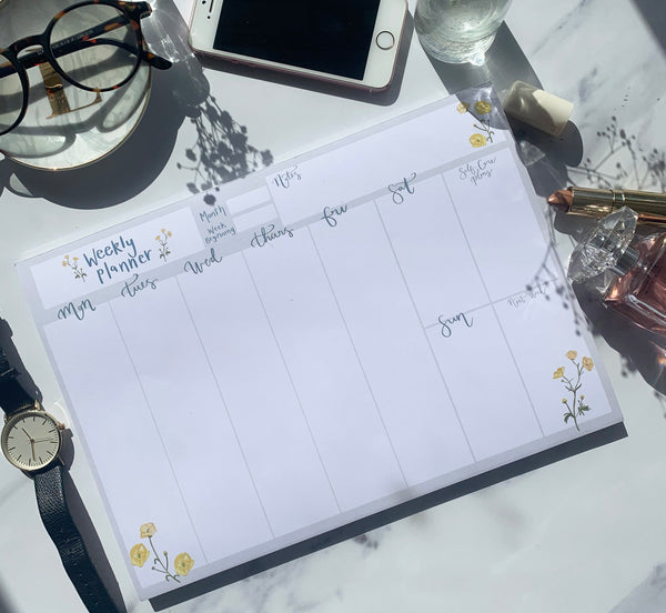 Blooming Buttercup Personal Weekly Planner