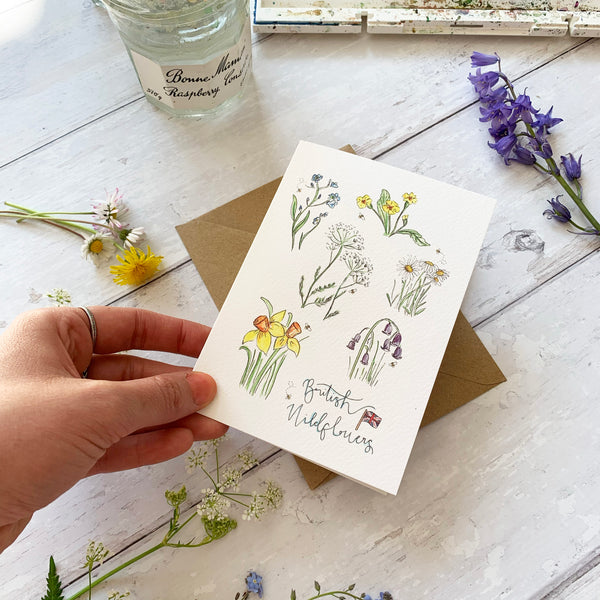 British Wildflower Card