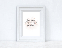 A Real Girl Rose Gold Inspirational Wall Home Decor Print