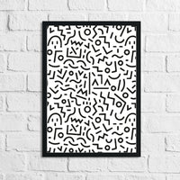 Abstract 1 Simple Line Bedroom Home Wall Decor Prints