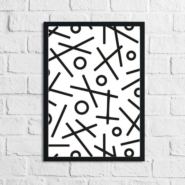 Abstract 3 Simple Line Bedroom Home Wall Decor Print