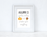 Autumn Is Autumn Seasonal Wall Home Decor Print