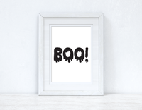 BOO Halloween Autumn Seasonal Wall Home Decor Print