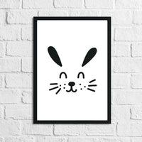 Scandinavian Bunny Children's Nursery Room Wall Decor Print