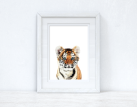 Baby Tiger Wild Animal Unisex Nursery Children's Room Wall Decor Print
