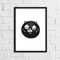 Scandinavian Cat 1 Children's Nursery Room Wall Decor Print