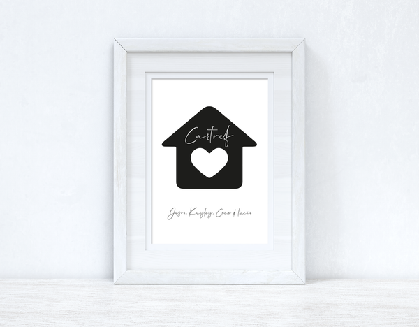 Cartef Personalised Home Names Home Welsh Decor Wall Decor Print