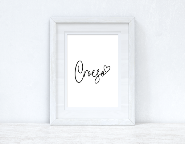 Croeso Welcome Home Welsh Decor Wall Decor Print