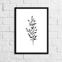 Flower 7 Simple Line Work Bedroom Home Wall Decor Print