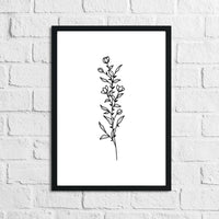 Flower 8 Simple Line Work Bedroom Home Wall Decor Print