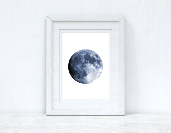 Full Blue Moon Bedroom Home Simple Decor Wall Print