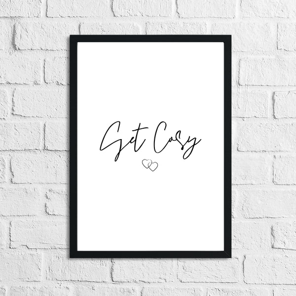 Get Cosy Heart Home Simple Home Wall Decor Print