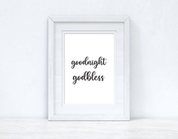 Goodnight Godbless Bedroom Room Wall Decor Print
